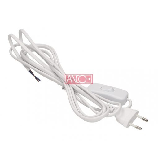 Cable with cord switch + Euro plug, 2m