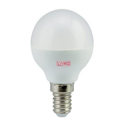 Gömb LED fényforrás, E14, 6W