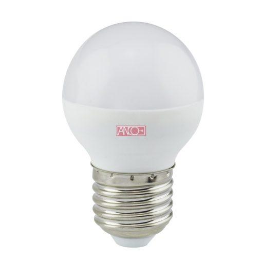 Gömb LED fényforrás, E27, 6W