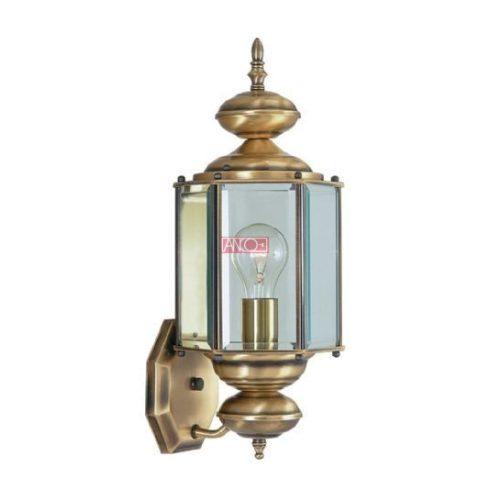 Kültéri fali lámpa antik bronz színben