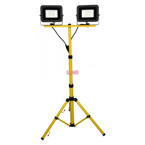LED floodlight with tripod, 2x30W