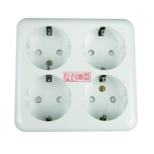 Austin four grounding socket, white