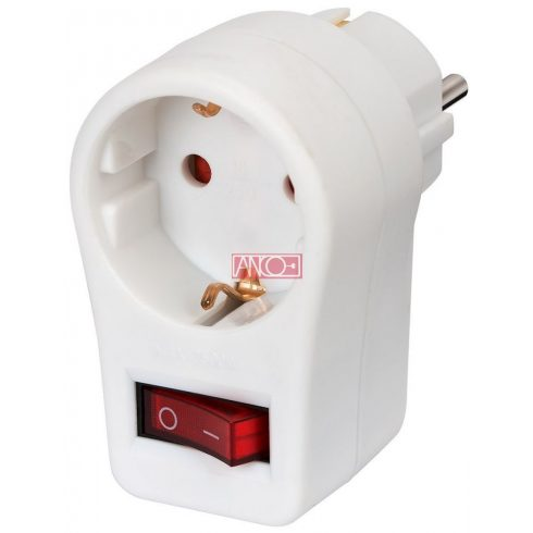 Adapter plug with 2pole switch