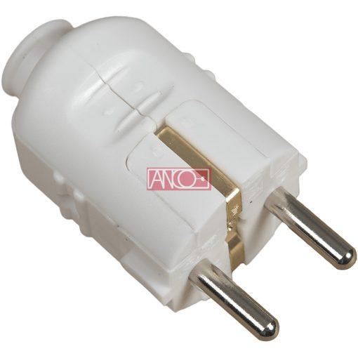 Grounding PVC plug central, white