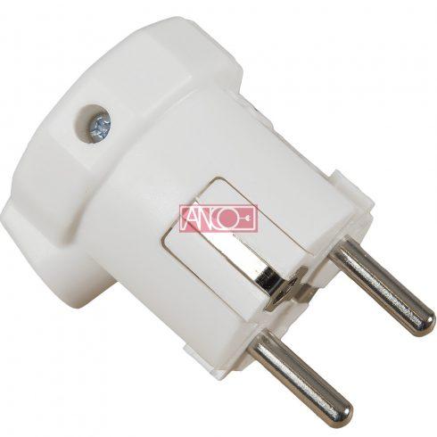 Grounding PVC plug lateral, white