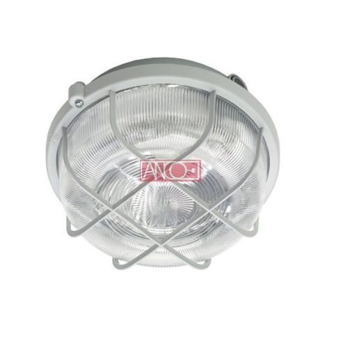 Plastic round lamp, white, 100W