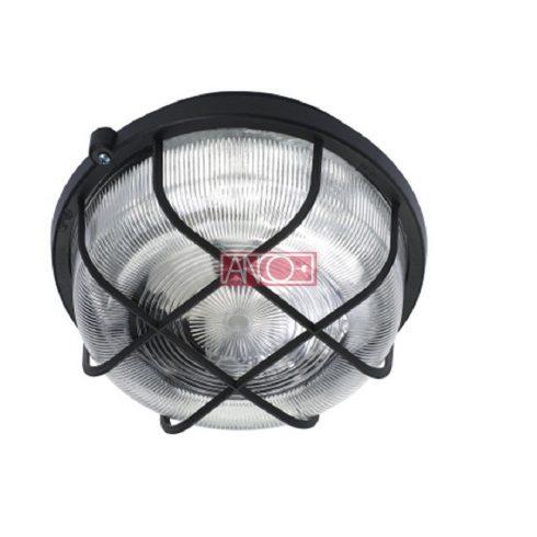 Plastic round lamp, black, 100W