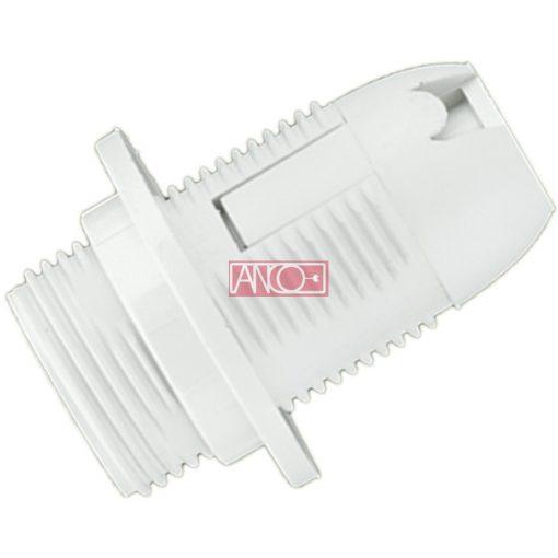 Lamp holder with ring E14, white