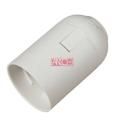 Lamp holder E27, white