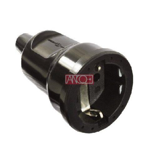 Grounding PVC socket, black
