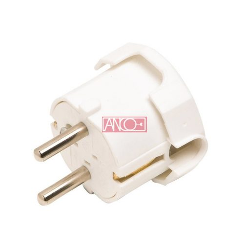 Grounding plug lateral, white