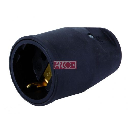 Grounding rubber socket, IP20