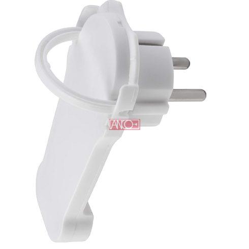 Extra flat plug, white