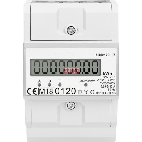3-phase digital energy meter , MID