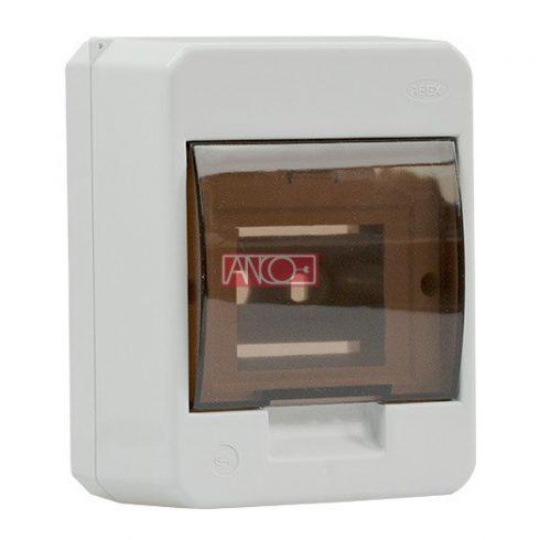 Surface-mounted distribution box, 1 x 4 modul
