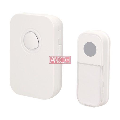 Wireless doorbell, 100 m, white