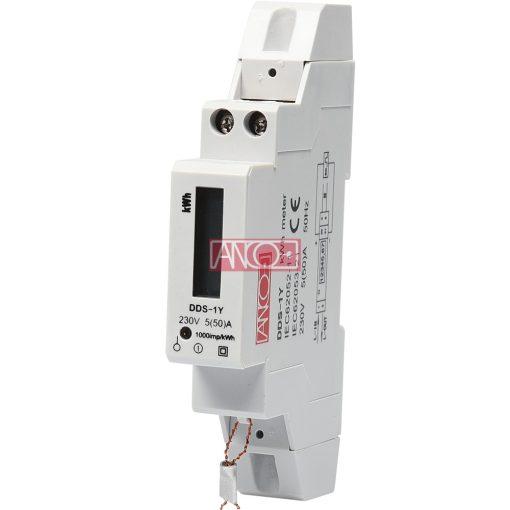 1 fázisú digitális almérő DIN sínre