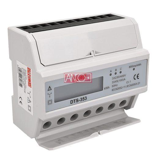3 fázisú digitális almérő DIN sínre
