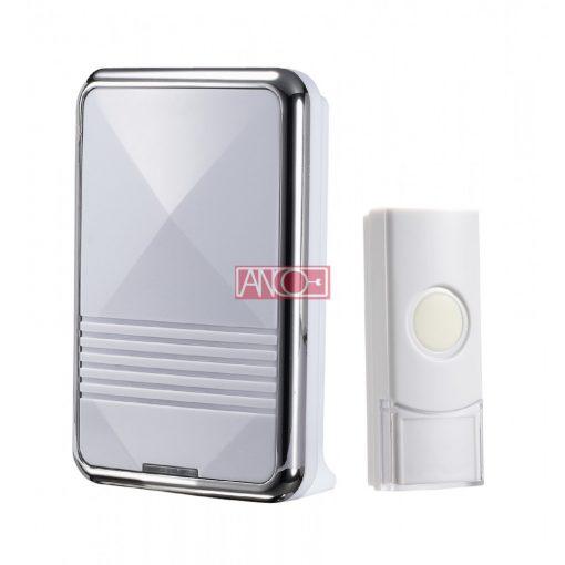 Wireless doorbell, 80m, silver