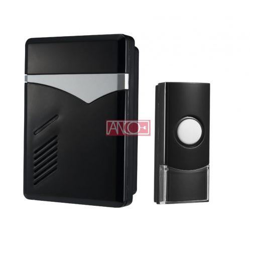 Wireless doorbell, 80m, black