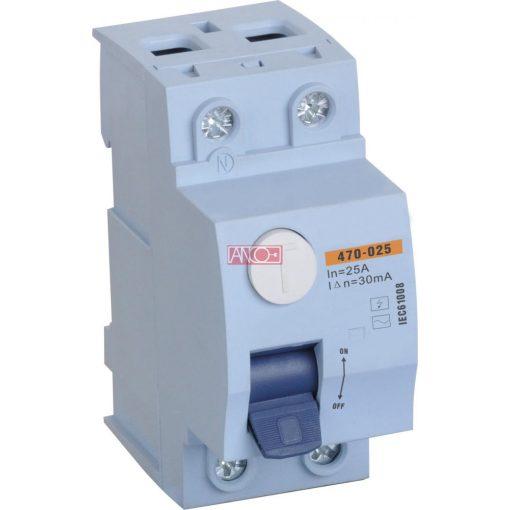 RCD switch 2P 25A 30mA 6kA